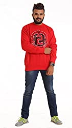 Round Neck - Red SWEATSHIRT for men by COLORS & BLENDS