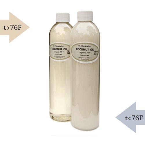 Organic Pure Coconut Oil 76 Degree 24 Oz