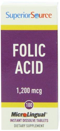 Superior Source Folic Acid Extra Strength Multivitamins, 1200 Mcg, 100 Count