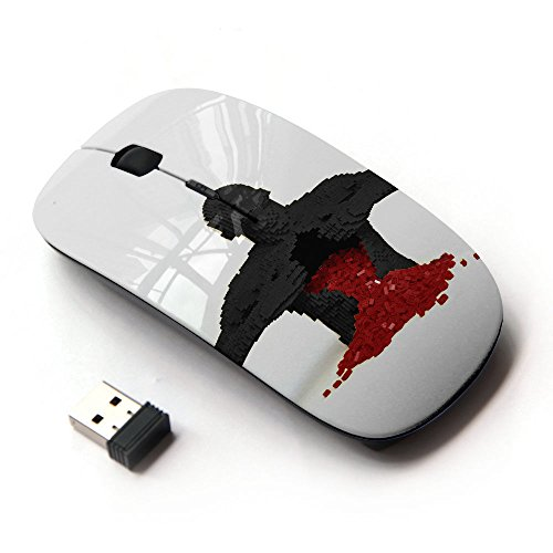 XP-Tech [ Mouse Senza Fili Ottico 2.4G ] - Puzzle Game Heart Broken Love Red Man Anatomy