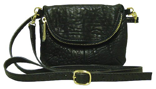 Lodis Synergy Lexy Crossbody Leather Bag Black