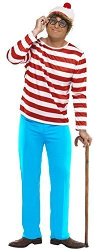 [Family Mens Ladies Boys Girls Child's Where's Wally Waldo Wenda Book Day Couples Halloween Party Fancy Dress Costumes Outfits (Large, Mens) by Fancy] (Wheres Waldo Girl Halloween Costume)