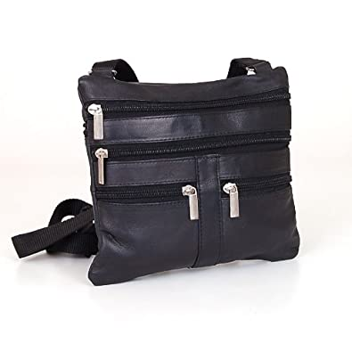 Soft Leather Cross Body Bag Purse Shoulder Bag 5 Pocket Organizer Micro HandbagTravel Wallet 7 colors
