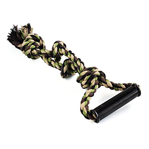 Dog 18 Inch Camo Rope Toy with 4 Knots and Grip Handle for Large Dogs (Champion Dog Toys compare prices)