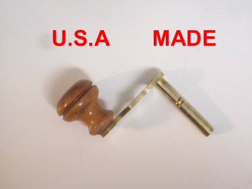 Grandfather Clock Crank Winder Key for Howard Miller, Ridgeway, Sligh, Emporer, Pearl, Seth Thomas, and Trend