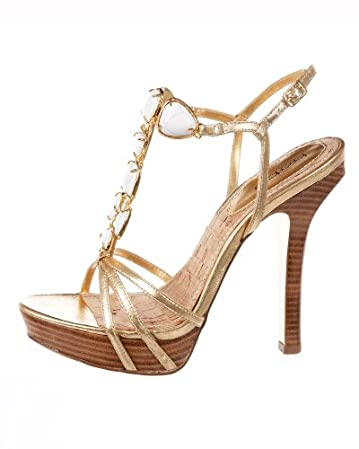 Arianna Stone Strap Sandal :  platform tstrap heels sandals