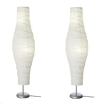 Amazoncom ikea unique shade rice paper floor lamp set for Paper floor lamp amazon