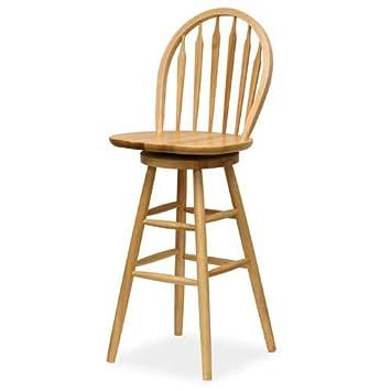Winsome Wood 30 inch Windsor Swivel Seat Bar Stool