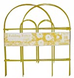"""18"""" x 10 Folding Wire Fence [Set of 12] Color: Yellow"""