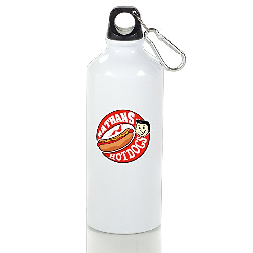 [Candi Delicious Nathan's Hot Dog Vogue Traveler Coffee Mug Outdoor Sports White Size 500ml] (Minecraft Costume Contest 2016)