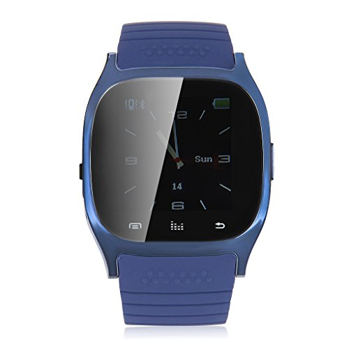 Floureon® R-Watch M26 Led Light Display Table Bluetooth Watch Sync Music/Phone Clock/ Message/ For Nokia / Blackberry / Feature Cellphone (Blue)