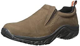 Merrell Men\'s Jungle Moc Pro Grip Nubuck Slip-Resistant Work Shoe, Brown, 10.5 M US