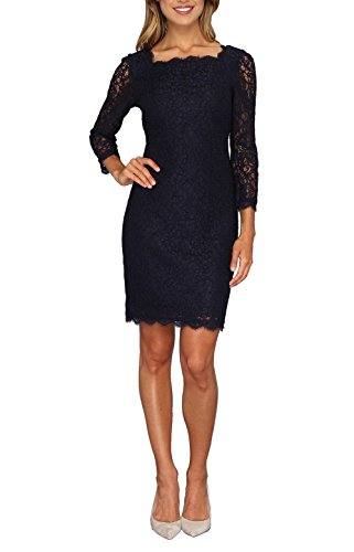 Berydress-34-Sleeve-Full-Zip-Back-Short-Lace-Cocktail-Dress