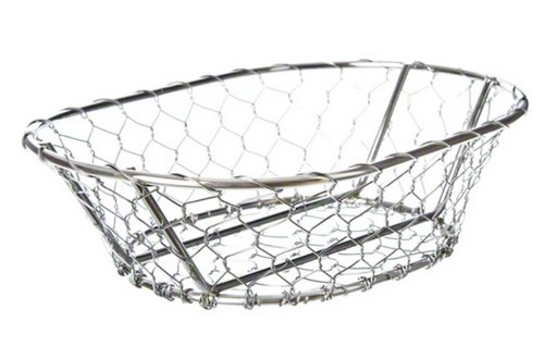 American Metalcraft WIR3 Oblong Chix Wire Basket, Chrome
