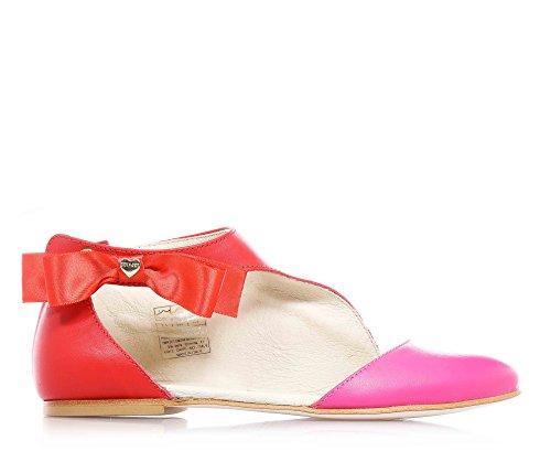 TWIN-SET - Scarpa, Ballerina rosso/fucsia, elegante, firmata, alla moda, donna, ragazza e ragazze, Bambina-37