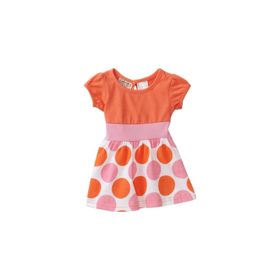 Carters Baby Girls Polka Dot Dress, Salmon, 18 Months