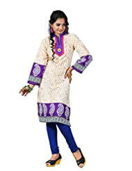 Arista Designer Ready To Wear Off White Kurti Size - 36 (KR91)