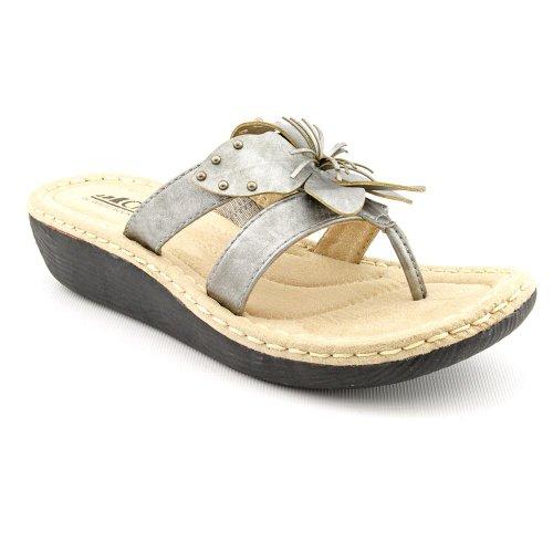White Mountain Wedge Sandals