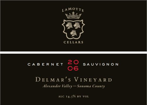 2006 Lamotte Cellars Cabernet Sauvignon Delmar'S Vineyard Alexander Valley Sonoma County 750 Ml