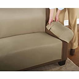 3-Piece Easy Couch Cover, Brownstone