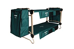 Disc-O-Bed Cam-O-Bunk Cot with 2 Organizers, 2 Cabinets and Leg Extensions, X-Large by Disc-O-Bed
