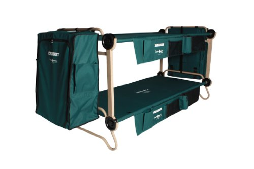 Disc O Bed Cam O Bunk Cot with 2 Organizers 2 Cabinets