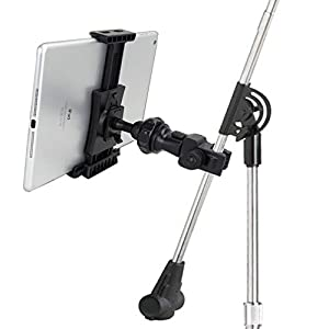 "AccessoryBasics EasyAdjust Microphone Mic Stand Mount for All 7 8 10 12"" tablet like Apple iPad PRO Air Mini Samsung Galaxy Tab Note Surface Pro/Book & iPhone 6s Plus 6 Galaxy Note 5 S7 S6 Edge LG G5 from Electronic-Readers.com"