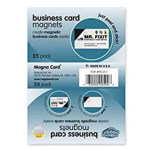 """Amazon Business Card Magnets 2""""x3 1 2"""" 25 PK"""