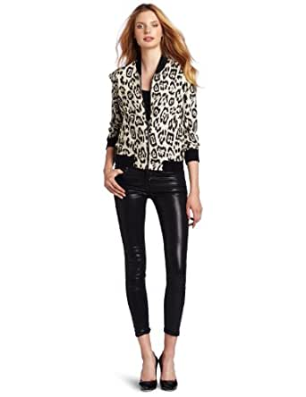 Joe's Jeans Women's Reversible Jacket, Tan Leopard, X-Small