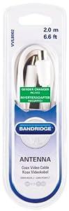 Bandridge 2m IEC Male Coax Cable plus Gender Changer