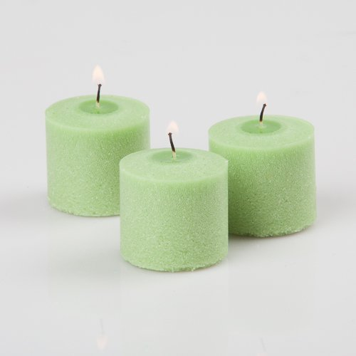 Scented lime green votive candles