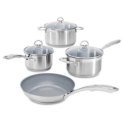 Chantal SLIN-7C Induction 21 Steel 7-Piece Ceramic Coated Nonstick Cookware Set (Chantal Induction 21 compare prices)