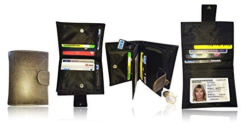 damen portemonnaie in braun mit vielen f chern raumwunder gelb rse mit 15 kreditkartenf cher. Black Bedroom Furniture Sets. Home Design Ideas