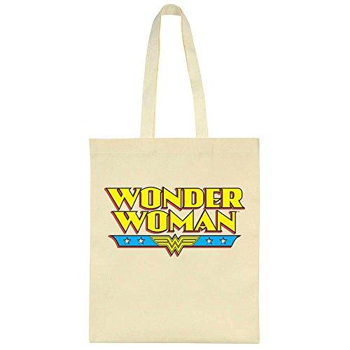 Wonder Woman Classic logo Canvas Tote Bag