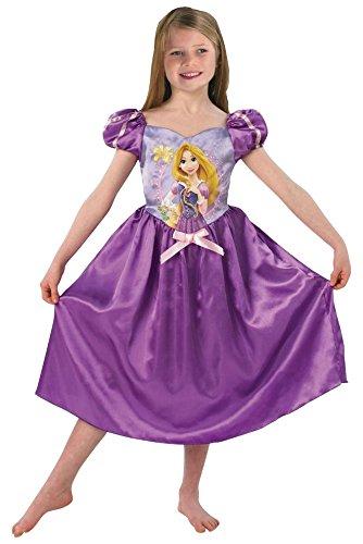 Generique - Costume Da Raperonzolo Con Parruca Per Bambina 5 A 6 Anni