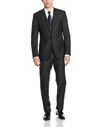 Dolce & Gabbana Traje Hombre Gris Oscuro