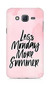 AMEZ less monday more summer Back Cover For Samsung Galaxy J5