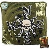 Pirates of the Caribbean Kraken Decorative Pillow - Green Map - Skull