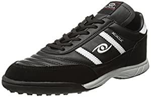 ACACIA Copa Turf Soccer Shoes, Black/White, 5 Youth