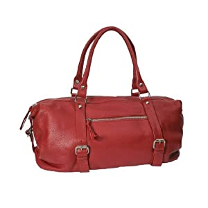 La Jolla Small Red Leather Weekender Duffel by Grey & Orr