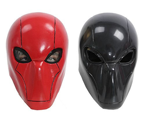XCOSER Red Head Mask Helmet Costume Props for Halloween Cosplay Red V1 (Hood Hair Drier compare prices)