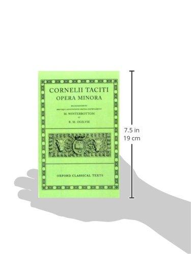 Tacitus Opera Minora (Oxford Classical Texts)