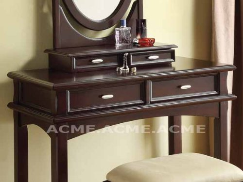 Amhest Vanity Table in Espresso by Acme Furniture