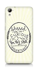 AMEZ Blessed are the curious Back Cover For HTC Desrie 826
