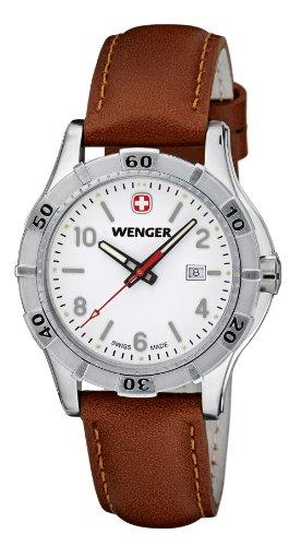 Wenger - 010921101 - Montre Femme - Quartz Analogique - Bracelet Cuir Marron