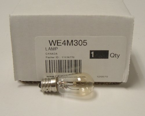 GE Part Number LAMP WE4M305