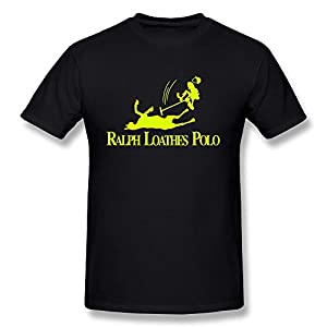Men's Round Neck Tees Ralph Loathes Polo Cotton