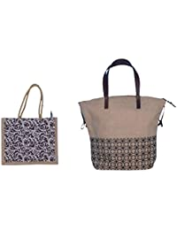 ABV Jute Lunch Bag, Carry Bag, Travel Bag, Hand Bag, Shopping Bag, Lunch Bag For Men/Women/Student Lunch Bag Combo...