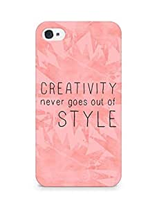 AMEZ creativity never goes out of style Back Cover For Apple iPhone 4