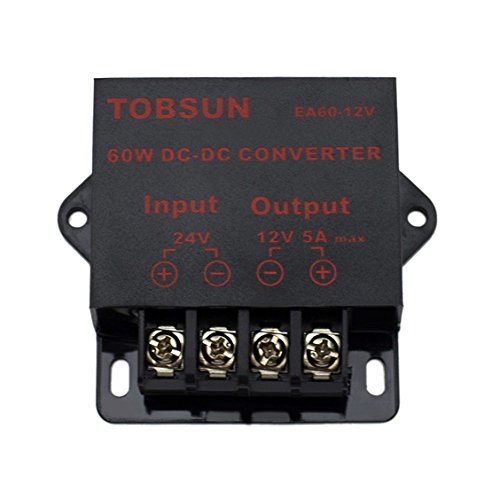 SUPERNIGHT 24V Input DC to DC 12V 5A 60W Output Universal Voltage Regulator Power Converter (Voltage Regulator 5a compare prices)